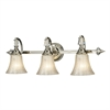 Lincoln Square 3 Light Vanity In Polished Nickel And Clear Crystalline Glass