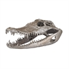 Lazy Susan Crocodile Skull In Silver Leaf