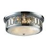 ELK lighting Flushmounts 3 Light Flushmount In Polished Chrome