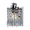 ELK lighting Optix 1 Light Vanity In Polished Chrome And Leaded Crystal Glass