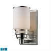 ELK lighting Bryant 1 Light LED Vanity In Satin Nickel And Opal White Glass