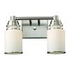 ELK lighting Bryant 2 Light Vanity In Satin Nickel And Opal White Glass
