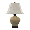"29"" Normandie Ceramic Table Lamp in Bronze"