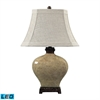 Normandie Ceramic LED Table Lamp in Bronze