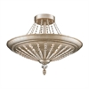 Renee 9 Light Semi Flush In Aged Silver
