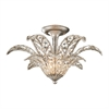 La Flor 1 Light Semi Flush In Sunset Silver