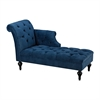 Neville Chaise Lounge Black,Navy