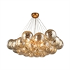 Cielo 6 Light Chandelier In Antique Gold Leaf