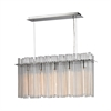 Fringe 5 Light Chandelier In Polished Stainless Steel