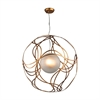 Oriona 3 Light Pendant In Antique Gold Leaf - Large