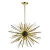 Starburst 12 Light Pendant In Gold