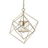 Neil 1 Light Box Pendant In Gold Leaf - Small