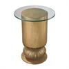 Gold Leaf Sock Bun Side Table
