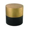 Draper Drum Table In Black And Gold