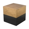 Lazy Susan Black And Gold Draper Cube Table