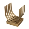 Lazy Susan Olympia Gold Leaf Log Holder