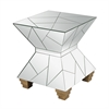 Mirrored Mosaic Hourglass Foot Stool