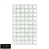 Modern Geometric Grid Mirror Clear