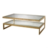 Key Coffee Table In Gold Leaf