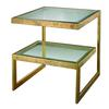 Lazy Susan Gold Leaf Key Side Table