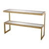Lazy Susan Gold Leaf Key Console