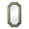 Sterling Mirror In Smoked And Hand Cut Heavy Glass Frame