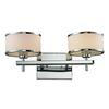 ELK lighting Utica 1 Light Vanity In Polished Chrome And White Glass