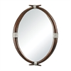 Ludville-Antler Mirror With Silver Rope Accents