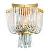 Chaumont 5 Light Flush Mount In Antique Gold Leaf