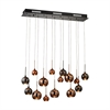 Nexion 15 Light Chandelier In Black Chrome - Large