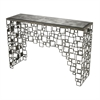 Sterling Alvis-Metal And Antique Mirror Console Table