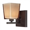 ELK lighting Serenity 1 Light Vanity In Oiled Bronze And Tan Glass