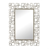 Sterling Alvis-Mirror Set In Metal And Antique Mirror Frame