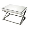 Sterling Klein-Mirror And Stainless Steel Coffee Table