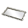 Sterling Erin-Chain Edged Mirrored Tray