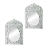 Sterling Set Of 2 Mini Venetian Mirrors