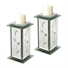 Set Of 2 Venetian Candle Holders