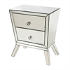 Mirrored Side Cabinet With 2 Drawers