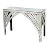 Sterling Curved Ribbons Mirrored Console