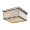 ELK lighting Flushmounts 2 Light Flushmount In Brushed Nickel And Opal White Glass