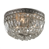 ELK lighting Flushmounts 3 Light Flushmount In Sunset Silver And Clear Crystal Glass