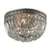 ELK lighting Flushmounts 3 Light Flushmount In Sunset Silver And Clear Crystal Glass