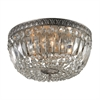 ELK lighting Flushmounts 4 Light Flushmount In Sunset Silver And Clear Crystal Glass