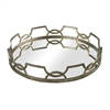 Sterling Iron Scroll Mirrored Tray