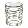 Sterling Contemporary Sculptural Metal Work Side Table With Clear Glass Top