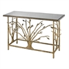 Sterling Gold Leafed Metal Branch Console Table With Antique Mirrored Top