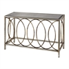 Sterling Rings Console Table With Mirrored Top