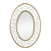 Sterling Gold Leafed Metal Branch Framed Mirror With Silver Accents
