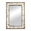 Sterling Gold Leafed Metal Branch Framed Mirror