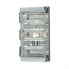 Corrugated Glass 1 Light Vanity In Polished Chrome